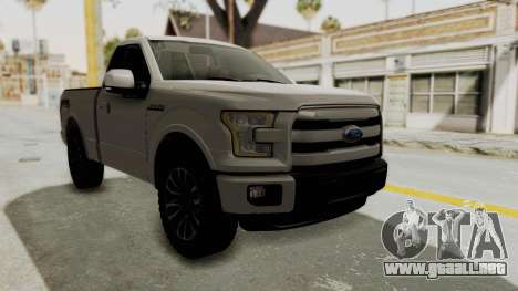 Ford Lobo XLT 2015 Single Cab para la visión correcta GTA San Andreas