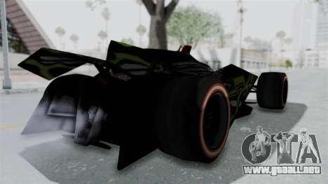 Bad to the Blade from Hot Wheels para GTA San Andreas vista posterior izquierda