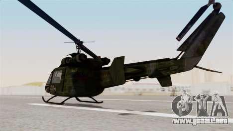 Castro V Attack Copter from Mercenaries 2 para GTA San Andreas vista posterior izquierda
