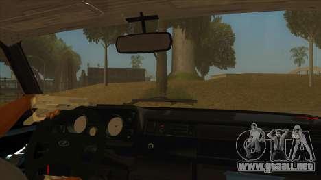 VAZ 2105 de Combate Clásicos para visión interna GTA San Andreas