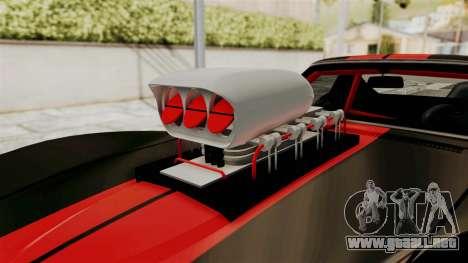 Chevrolet Corvette Stingray C3 1968 Drag para GTA San Andreas vista hacia atrás