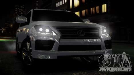 Lexus Lx 570 2014 sport para GTA 4 visión correcta