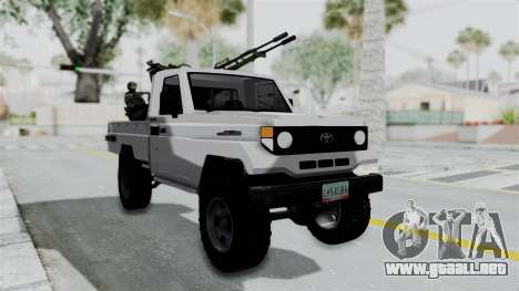 Toyota Land Cruiser Libyan Army para GTA San Andreas