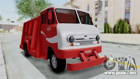 Ford P600 1964 Coca-Cola Delivery Truck para GTA San Andreas vista posterior izquierda
