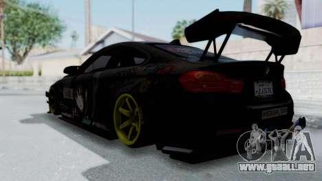 BMW M4 Kurumi Itasha para GTA San Andreas left