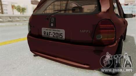 Chevrolet Corsa Hatchback Tuning v1 para vista inferior GTA San Andreas