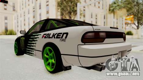 Nissan 240SX Drift Monster Energy Falken para GTA San Andreas left