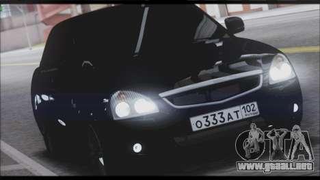 Lada Priora Sedan para GTA San Andreas left