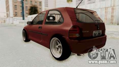 Chevrolet Corsa Hatchback Tuning v1 para GTA San Andreas left