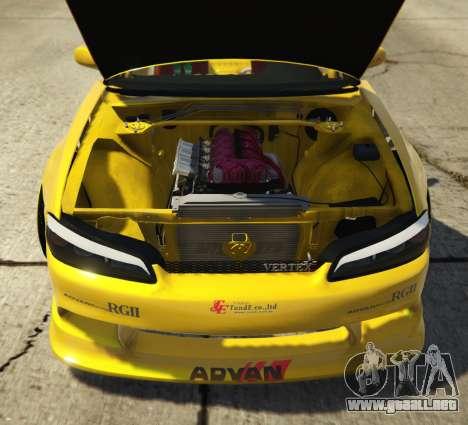 GTA 5 Nissan Silvia S15 Vertex vista lateral trasera derecha