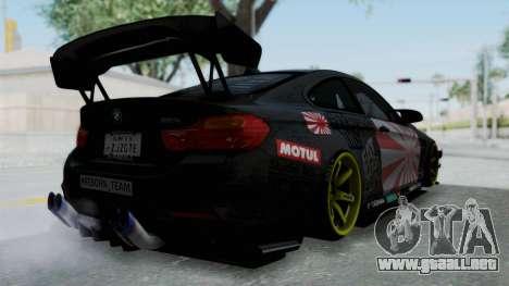 BMW M4 Kurumi Itasha para la visión correcta GTA San Andreas