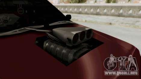 Peugeot Pars Sport para GTA San Andreas vista hacia atrás