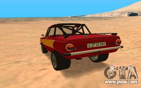 ЗАЗ-968 Offroad Style para GTA San Andreas vista posterior izquierda