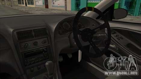 Ford Mustang 1999 Drift para visión interna GTA San Andreas