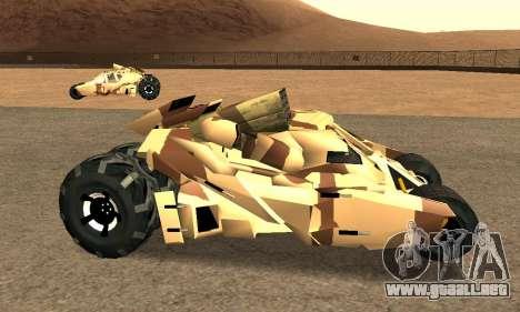 Army Tumbler Rocket Launcher from TDKR para la visión correcta GTA San Andreas