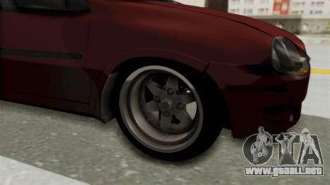 Chevrolet Corsa Hatchback Tuning v1 para GTA San Andreas vista hacia atrás