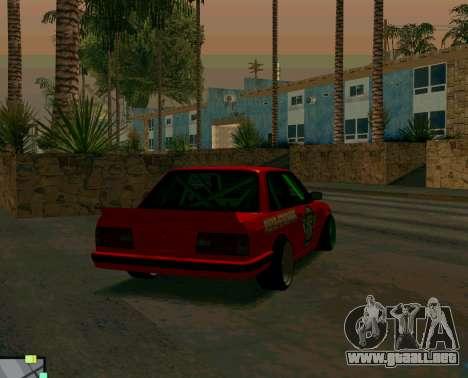BMW E30 Drift para GTA San Andreas vista posterior izquierda