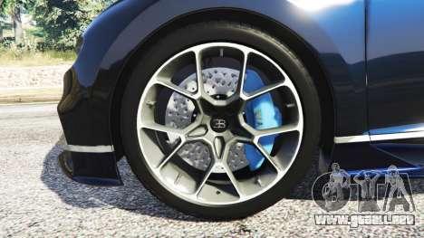 GTA 5 Bugatti Chiron vista lateral trasera derecha