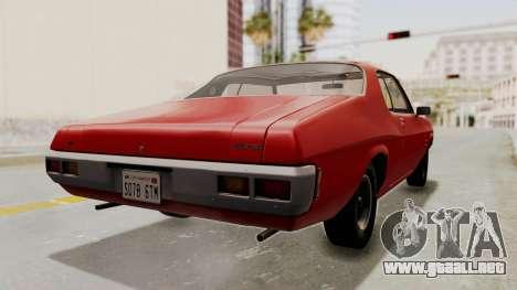 Holden Monaro GTS 1971 SA Plate HQLM para GTA San Andreas left