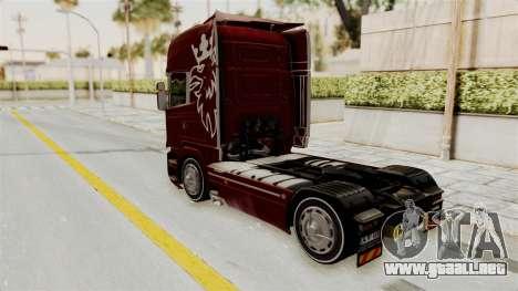 Scania R730 para GTA San Andreas vista posterior izquierda