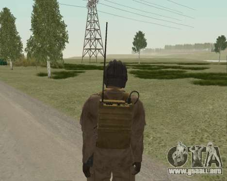 Los soldados soviéticos para GTA San Andreas sucesivamente de pantalla