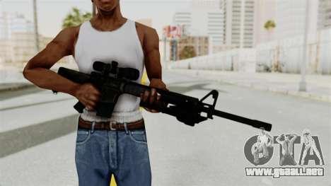 M16 Sniper para GTA San Andreas tercera pantalla