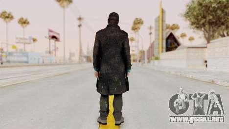 Watchdogs Aiden Pierce DedSec Outfit para GTA San Andreas tercera pantalla