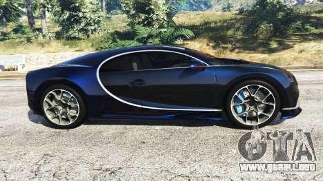 GTA 5 Bugatti Chiron vista lateral izquierda
