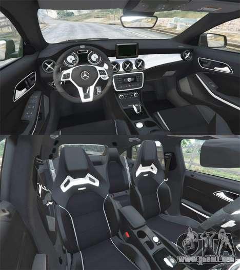 GTA 5 Mercedes-Benz CLA 45 AMG [HSR Wheels] vista lateral trasera derecha