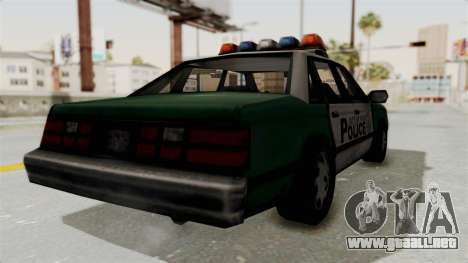 GTA VC Police Car para GTA San Andreas left
