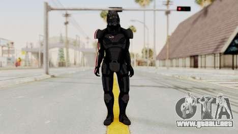 Mass Effect 2 Shepard Default N7 Armor Helmet para GTA San Andreas segunda pantalla
