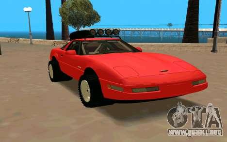 Chevrolet Corvette C4 para la visión correcta GTA San Andreas