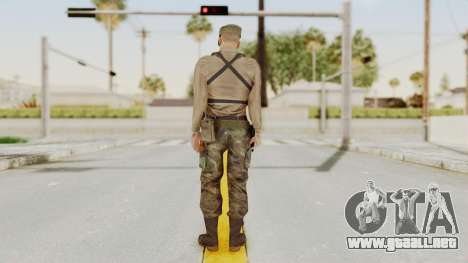 MGSV Phantom Pain Rogue Coyote Soldier Shirt v1 para GTA San Andreas tercera pantalla