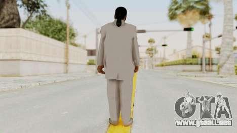 Taher Shah White Suit para GTA San Andreas tercera pantalla
