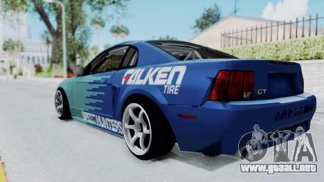 Ford Mustang 1999 Drift Falken para GTA San Andreas left
