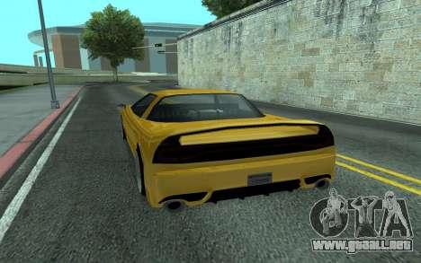 BlueRay's V9 Infernus para GTA San Andreas vista posterior izquierda