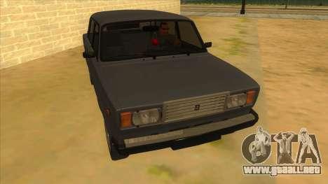 VAZ 2107 RUSIA para GTA San Andreas vista hacia atrás