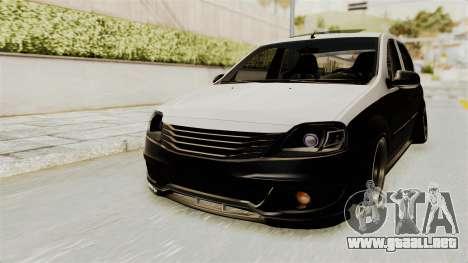 Dacia Logan Facelift Stance para la visión correcta GTA San Andreas