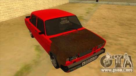 VAZ 2105 de Combate Clásicos para GTA San Andreas vista hacia atrás