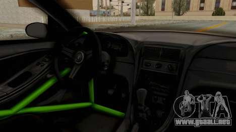 Ford Mustang 1999 Drift Monster Energy Falken para visión interna GTA San Andreas