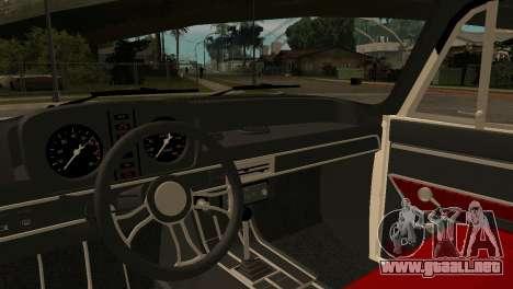 AZLK 412 para GTA San Andreas vista hacia atrás