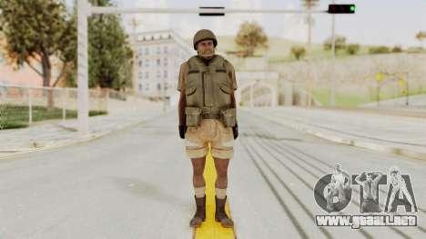 MGSV Phantom Pain CFA Vest v1 para GTA San Andreas segunda pantalla