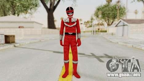Power Rangers Time Force - Red para GTA San Andreas segunda pantalla