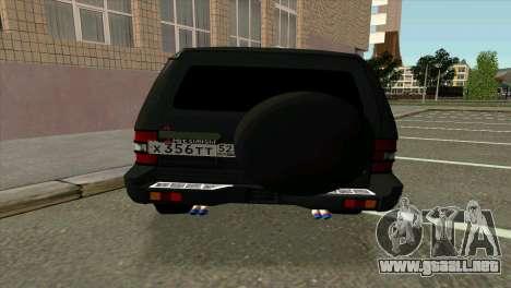 Mitsubishi Pajero v8 turbo para la visión correcta GTA San Andreas