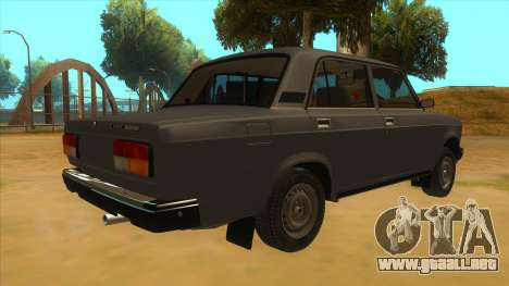 VAZ 2107 RUSIA para la visión correcta GTA San Andreas