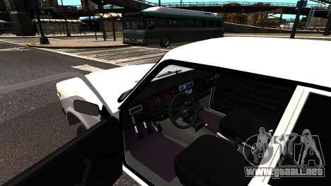 VAZ 2107 AzElow para GTA 4 visión correcta