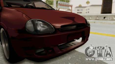 Chevrolet Corsa Hatchback Tuning v1 para vista lateral GTA San Andreas