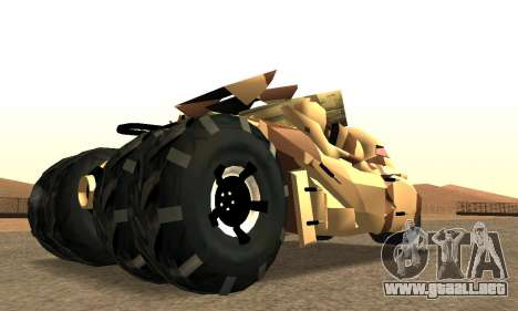 Army Tumbler Rocket Launcher from TDKR para GTA San Andreas left