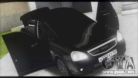 Lada Priora Sedan para GTA San Andreas vista hacia atrás