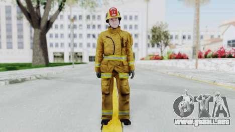 GTA 5 Fireman LV para GTA San Andreas segunda pantalla